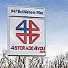 4 Storage Montgomeryville facility street sign