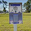 Snapbox Panama City Beach exterior keypad and/or gate