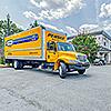 Snapbox University Ave move-in truck